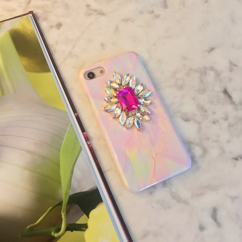Kunzite marble phone case