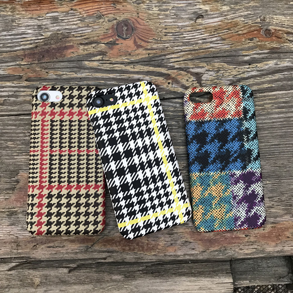 hound tooth check phone case