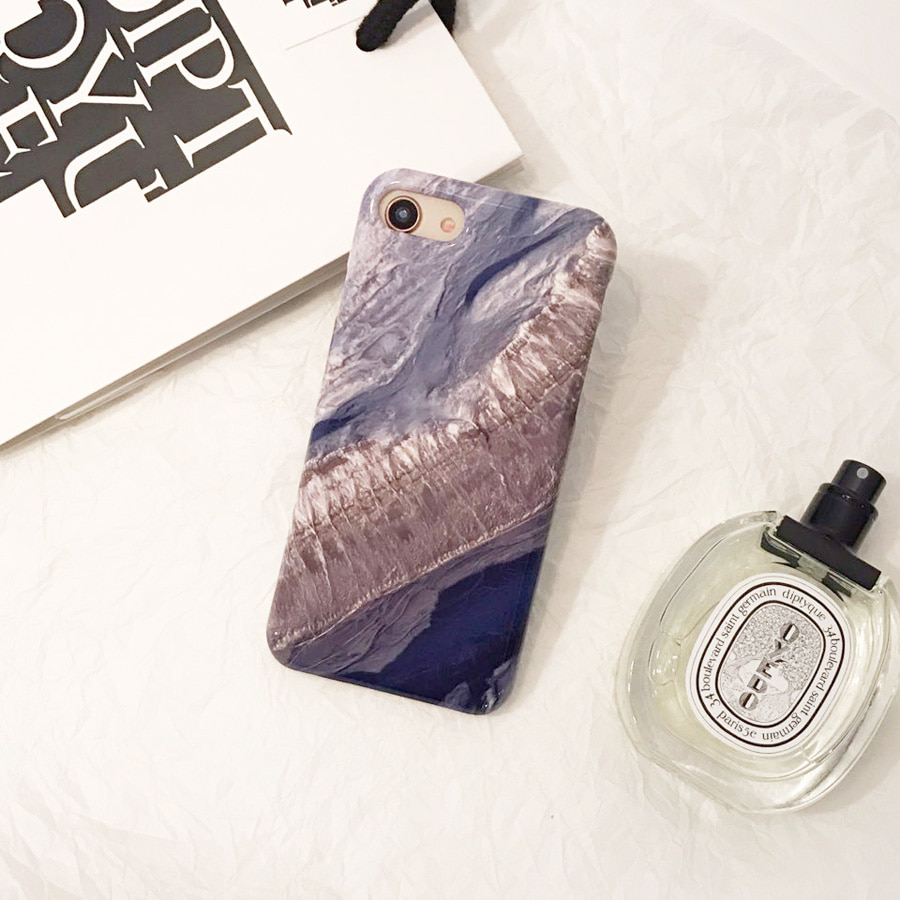blue stone marble phone case